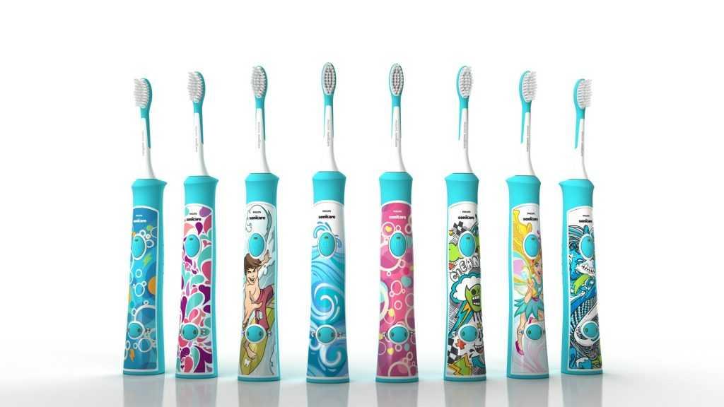 Детская электрическая зубная щётка