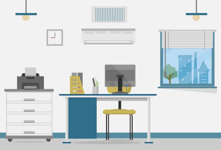 централизованная система вентиляции и кондиционирования в офисе