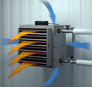 Отопление промышленности тепловентилятором водяным