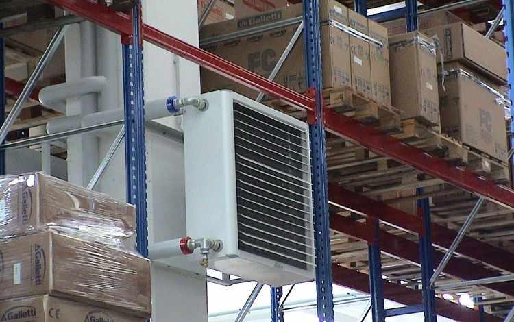 Применение тепловентилятора на складе