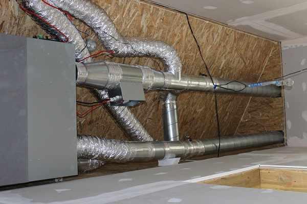 Приточная установка в частном доме из Сип-панелей