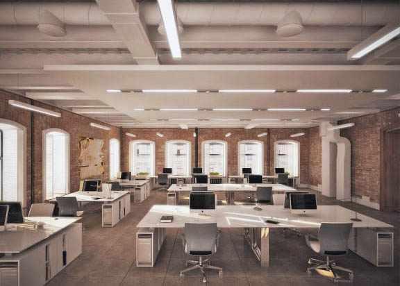 Офис в стиле Loft. Вентиляция и кондиционирование
