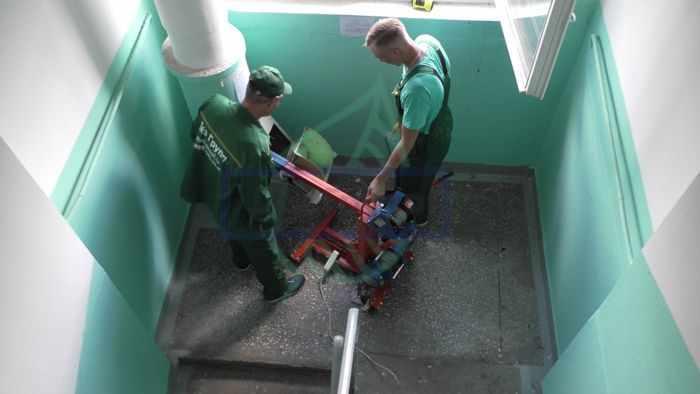 Промывка ствола мусоропровода службой Дез Групп