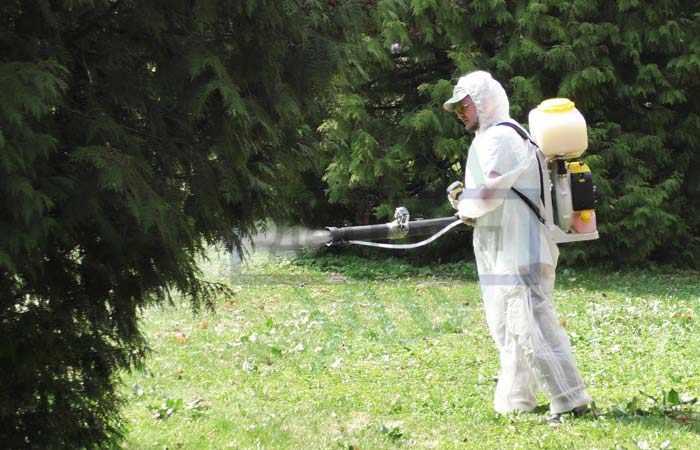 Обработка травы от клещей на даче СЭС Дез Групп