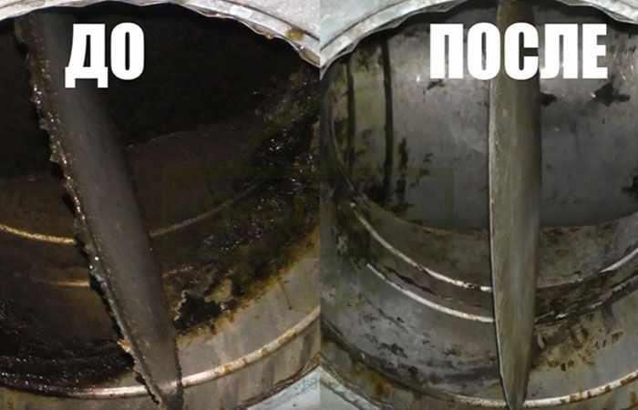 Очистка систем вентиляции от жировых отложений с помощью СЭС