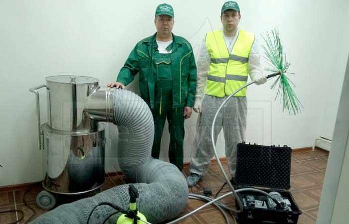 Проведение очистки и дезинфекции систем вентиляции профессиональным оборудованием