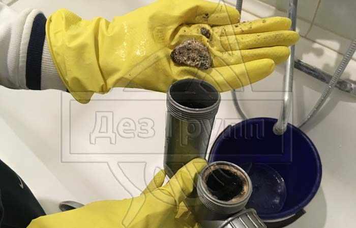 Очистка канализации от жировых отложений и других загрязнений