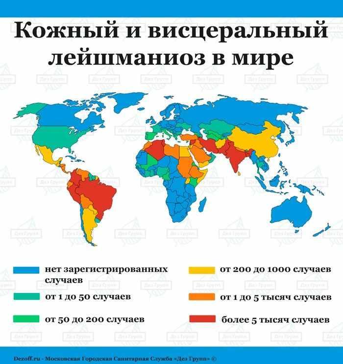 Карта распространения москитов по миру - Дез Групп