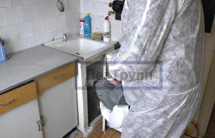 Подготовить кухню к дезинсекции