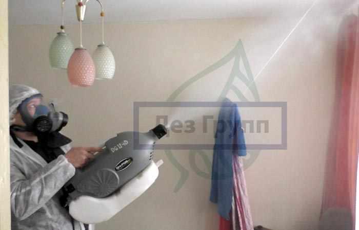 Обработка горячим и холодным туманом квартиры от тараканов