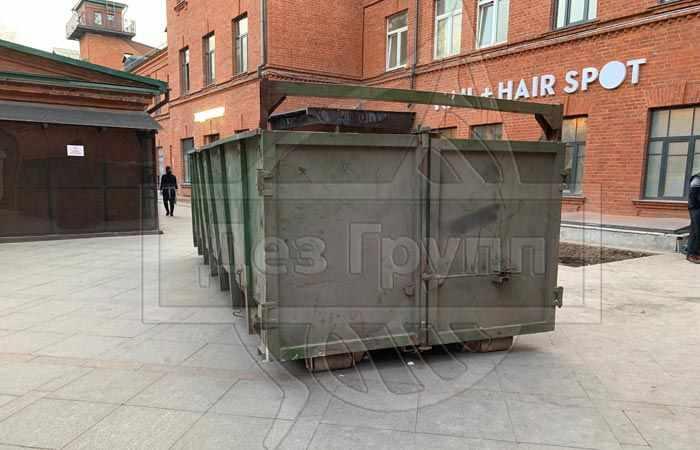 Дезинфекция контейнеров для сбора твердых бытовых отходов
