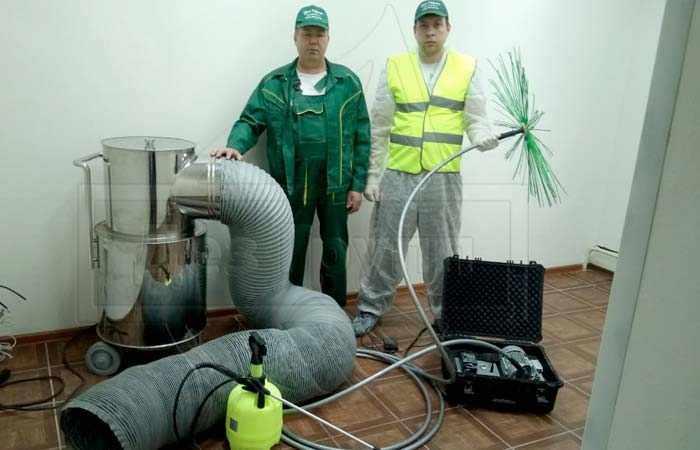 Профессиональное оборудование для чистки воздуховодов